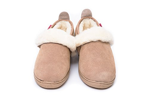 Zapatillas de casa de piel de oveja ANDREA