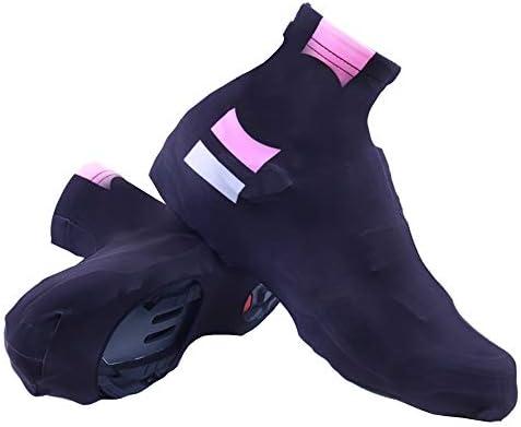 サイクリングシューズカバー マジック・ウィングブラックパウダー靴カバーウォームとコールドプルーフライディング防水および防塵屋外乗馬用品 シューズカバー (Color : Black, Size : M)