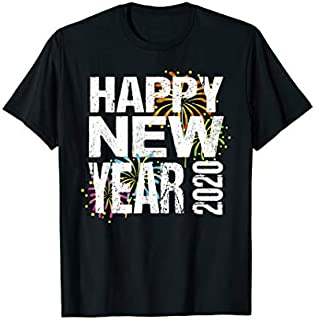 Happy New Year 2020  New Years Eve Distressed Gift T-shirt | Size S - 5XL