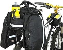ChengBeautiful Bolsa De Bicicleta Equipaje de Asiento Trasero de Bicicleta Impermeable Doble Maleta de Maletero de Bicicleta de Gran Capacidad multifunción Adecuada for Ciclismo de Viaje Bicicletas B: Amazon.es: Hogar