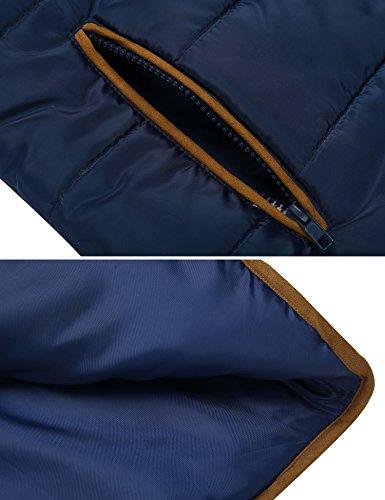 Marine S Manteau Manches XL Chaude Femme Longues Bleu Matelass avec Hiver HOTOUCH Capuche qRv7Wfv0z