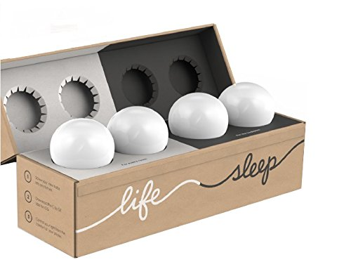C by GE A19 C-Life and C-Sleep Smart LED Light Bulb Combo by GE Lighting, 4-Pack, Works with Alexa
