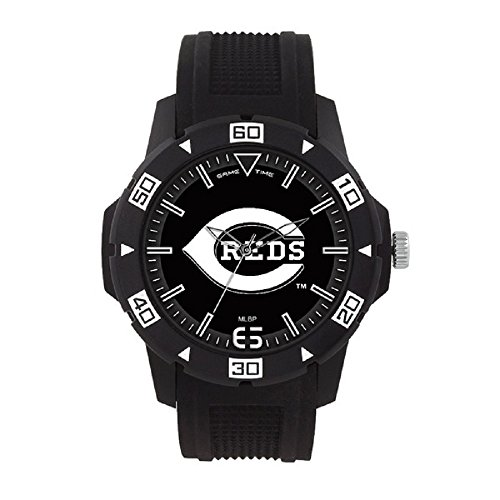 Game Time MLB- Cincinnati Reds Automatic Series Watch, Black, 49.50mm