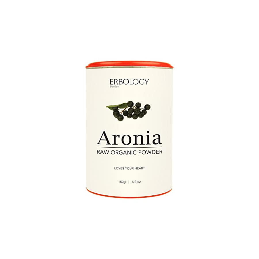 Organic Aronia Powder 5.3 oz Rich in Anthocyanins for Healthy Heart Chokeberry Raw Gluten Free