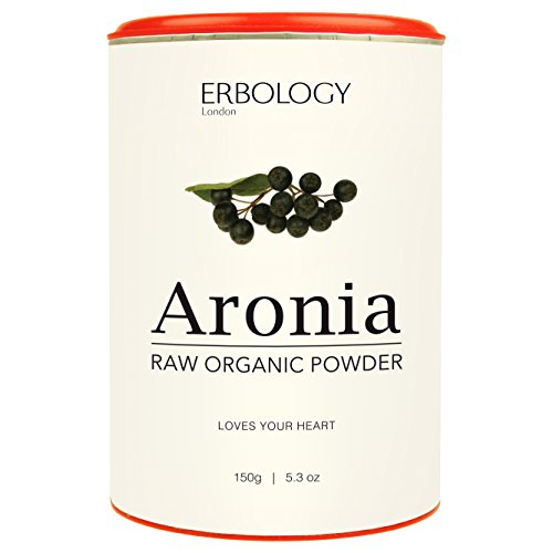Raw Organic Aronia Powder 5.3 oz For Healthy Heart Rich in Anthocyanins Powerful Antioxidant Chokeberry