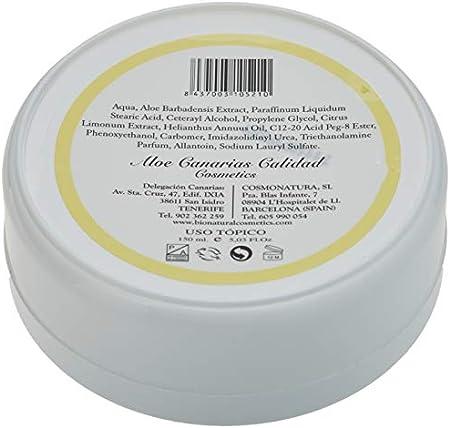Aloe Canarias 200100 - Crema de aloe vera y limón, hidratante para pieles grasas, 150 ml