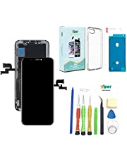 Screen Replacement for iPhone X 5.8 inch (Model A1865 A1901 A1902) Touch Screen Complete Repair kit - Digitizer Display Glass Replacement with Repair Tools, Waterproof Adhesive and Tempered Glass