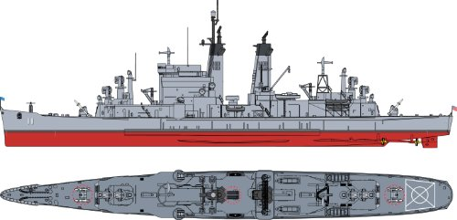 Missile Kit - Cyber Hobby Models CG-11 U.S.S Chicago Missile Cruiser, Scale 1/700