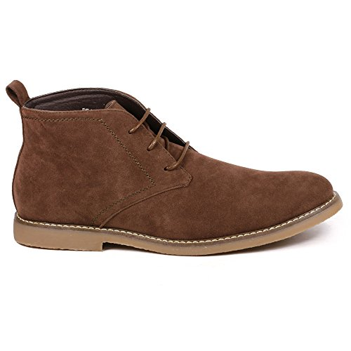 Miko Lotti Bf1302 Hommes Lacer Up Casual Mode Cheville Bottes Chukka Courir Grand Marron