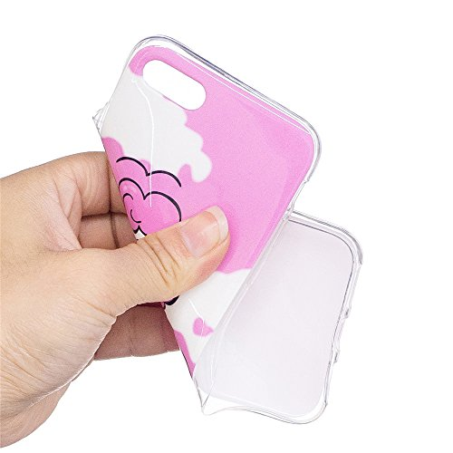 Custodia iPhone 6 Plus / 6S Plus , LH Nubi Bianche Unicorno Fluorescenza TPU Silicone Cristallo Morbido Case Cover Custodie per Apple iPhone 6 Plus / 6S Plus 5.5