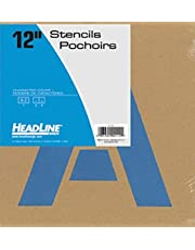 Headline Sign 112 Stencil Set, 12-Inch Capital Letters A to Z