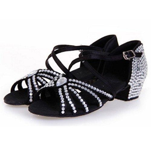 Fucsia T para Satin Fucsia Q Baile Stiletto T Heel de Indoor Mujer Zapatillas 4xwBT7qr4