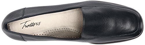 Frauen Trotters Leder Frauen Trotters Leder Trotters Loafers Navy Navy Loafers awfqtx