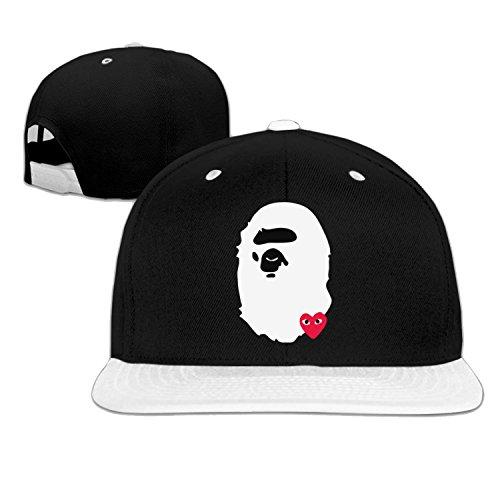 Fashion Bape X Comme Des Garcon Hip Hop Baseball Hats One Size White