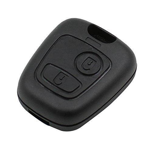 Boîtier de clé de remplacement 2boutons pour Peugeot 407107205206207307406avec lame vierge NE78