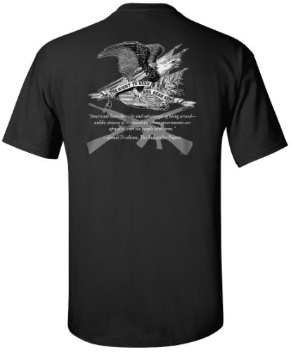 Gadsden and Culpeper Right to Bear Arms T-Shirt - Black - XL