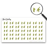 Humans Vs Zombies Tag Run Running Scared, Sticker Sheet 88 Bullet Stickers for Journal Planner Scrapbooks Bujo and Crafts, Item 234122