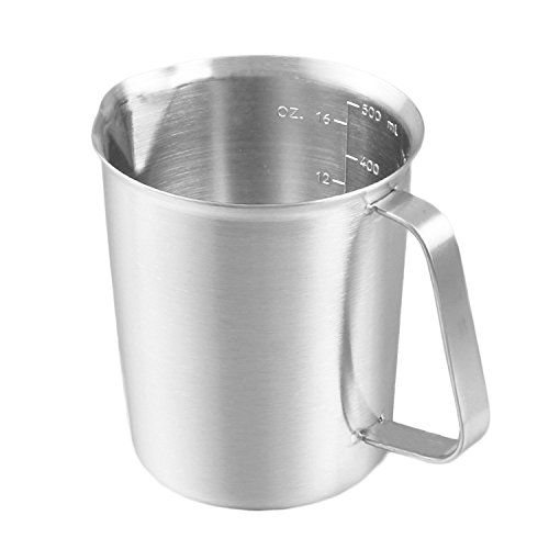 Measuring Cup - Stainless Measuring Cup With Marking & Handle .Corrosion Resistant(16oz) by DELERKE