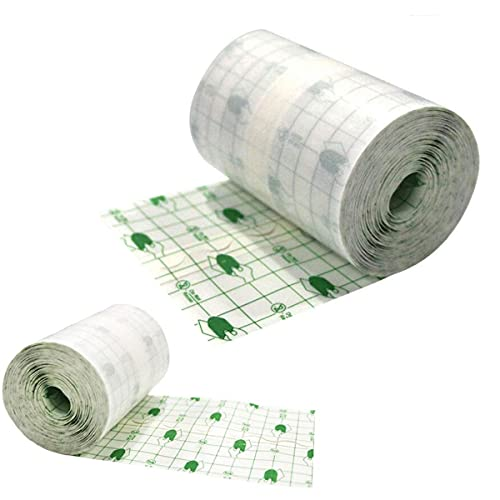 Colilover Transparent Stretch Adhesive Bandage,Tattoo Aftercare Waterproof Bandage Roll,Transparent Film Dressing Second Skin Healing Protective - Hypoallergenic,Waterproof (3.94'' x 10.94yard)