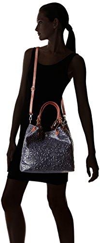 Chicca Borse 80049 - Bolsos bandolera Mujer Negro (Nero)