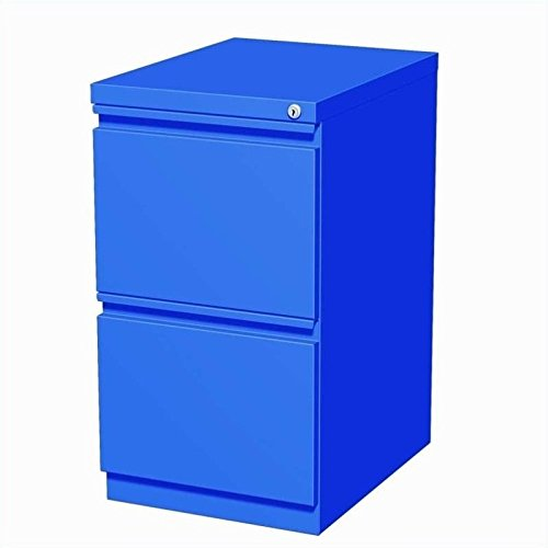 Hirsh Industries 20'' Deep File-File Mobile Pedestal in Blue by Hirsh Industries