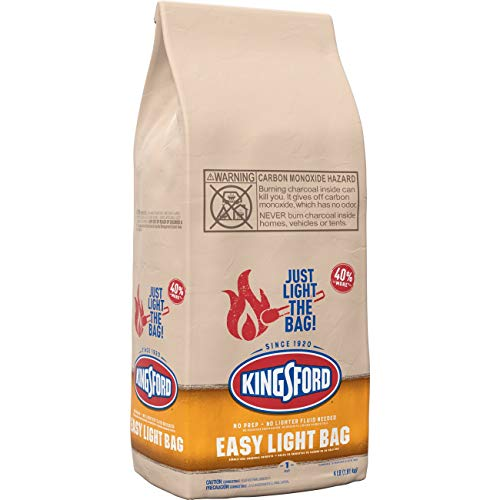 Kingsford Easy Light Charcoal Briquettes Bag, BBQ Charcoal for Grilling – 4 Pounds
