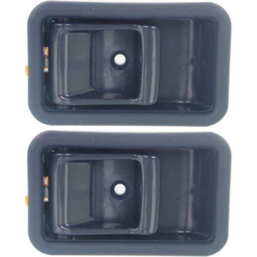 Interior Door Handle Set of 2 Compatible with FORD ESCORT 1994-1996 Front Door Handle Right Side and Left Side Inner Blue Plastic - Ford Escort Front Door Handle