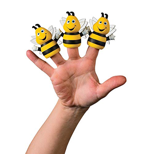 Fun Express - Bumble Bee Finger Puppets - Toys - Character Toys - Finger Puppets - 12 Pieces