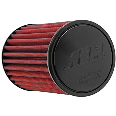 AEM 21-2029DK Universal DryFlow Clamp-On Air Filter: Round Tapered; 2.75 in (70 mm) Flange ID; 9.125 in (232 mm) Height; 6 in (152 mm) Base; 5.125 in (130 mm) Top: Automotive