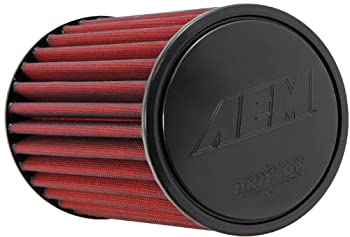 AEM 21-2049DK Universal DryFlow Clamp-On Air Filter: Round Tapered; 3.5 in (89 mm) Flange ID; 8.938 in (227 mm) Height; 6 in (152 mm) Base; 5.125 in (130 mm) Top