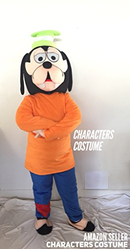 [Goofy Mickey Mouse Dog Characters Costume Mascot Adult Size For Birthday Boy or Girl Birthday Party] (Donald Duck Costumes For Adults)