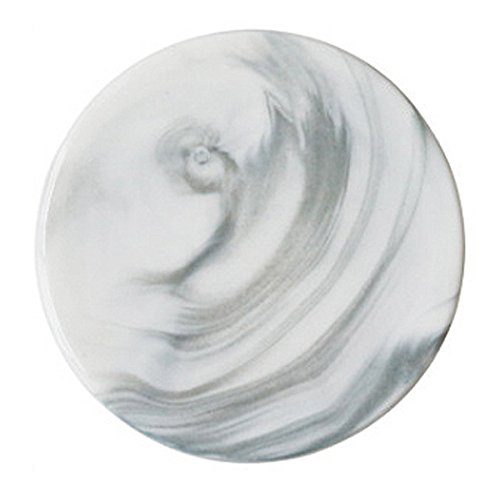 White Marble Coasters - Set of 4 Stone Coaster Pattern Round For Bar Drinks Christmas Marble Drink Coasters