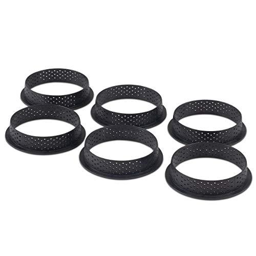 Silikomart Tarte Ring 80 - Perforated - 6 Forms
