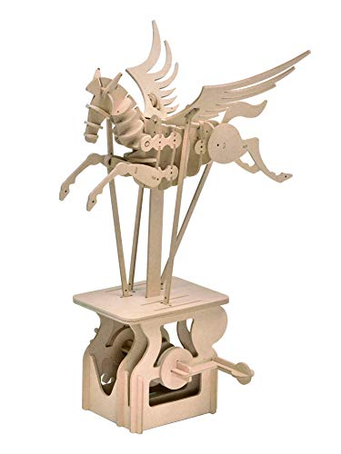 Natural Wood Series Natural - Clockwork Dreams Automata Kit, Natural Wood Series, Pegasus - CWD204 - Mini Machine Wood Kit