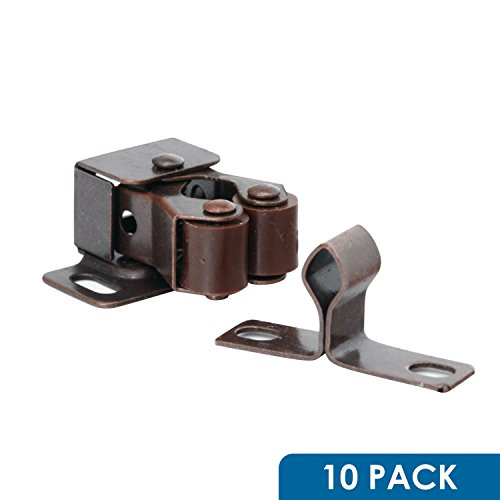 10 Pack Rok Hardware Roller Catch Brown Oil-Rubbed Bronze Copper Finish Heavy Duty Latch For Cabinet Closet Doors ROKRLCS (Roller Cabinet)