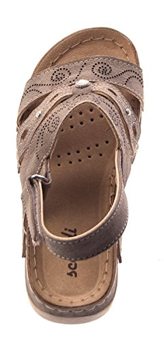 Scandi Women's Open Toe Sandals Brown - Brown 2Xkel