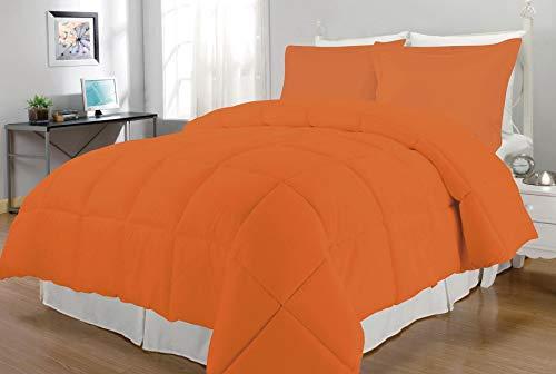Hemau Premium New Soft Down Alternative Comforter Set, King, Orange | Style 503195864