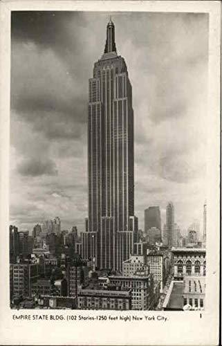 Empire State Building New York City, New York NY Original Vintage Postcard 1944