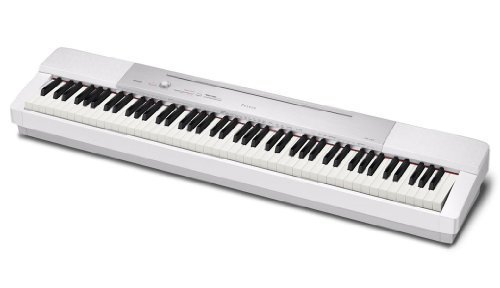Casio Privia PX-350 Digital Scaled & Weighted Hammer -Action Piano Keyboard Bundle with Casio Bench and Stand