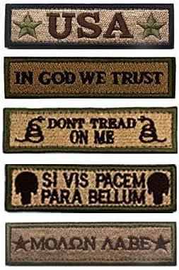 antrix Bundle 5 piezas Tawny Tactical moral parche Militar Velcro parches de bordado de Full para tapas, bolsas, mochilas, táctico chaleco, uniformes militares etc.: Amazon.es: Juguetes y juegos