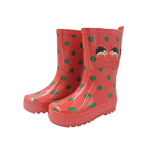 Meijunter Funny Kinder Infants Rutschfest Wasserdicht Candy Colors Regen Stiefel Rainboots Gummi Rain Shoes Regen Schuhe Red
