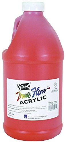 sax-true-flow-medium-bodied-acrylic-paint-1-2-gallon-chrome-orange