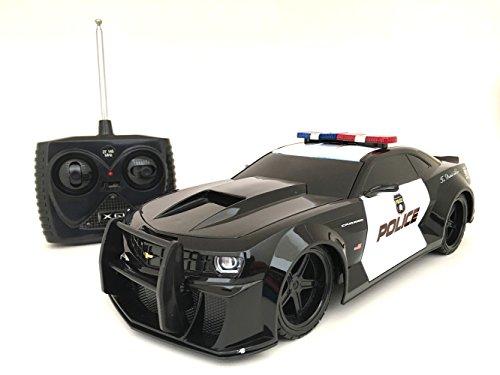 1/18 Scale 2014 Chevy Camaro Police Car Radio Remote Cont...