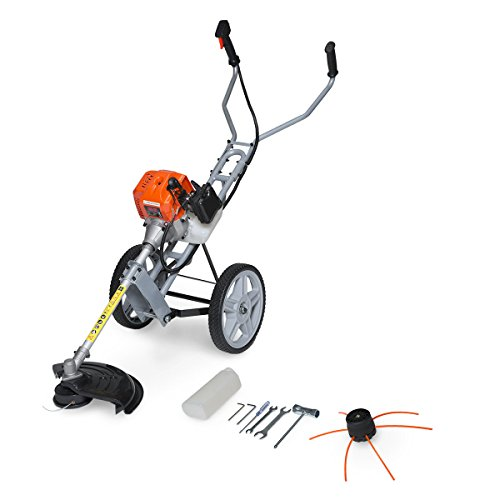 Fox 52cc 2 Stroke Petrol Lawn Ranger Wheel Mounted Grass Trimmer with Easy...