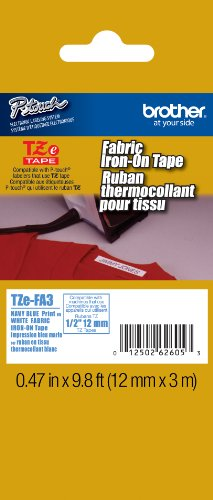 - Brother Genuine P-touch TZE-FA3 Tape, 1/2