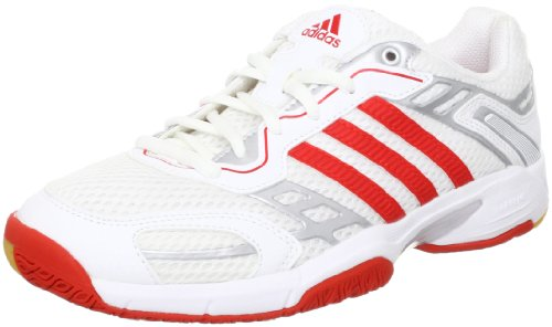 adidas Performance Opticourt Team Light W - zapatillas de balonmano de material sintético mujer multicolor - Mehrfarbig (Running White Ftw / Core Energy S12 / Metallic Silver)
