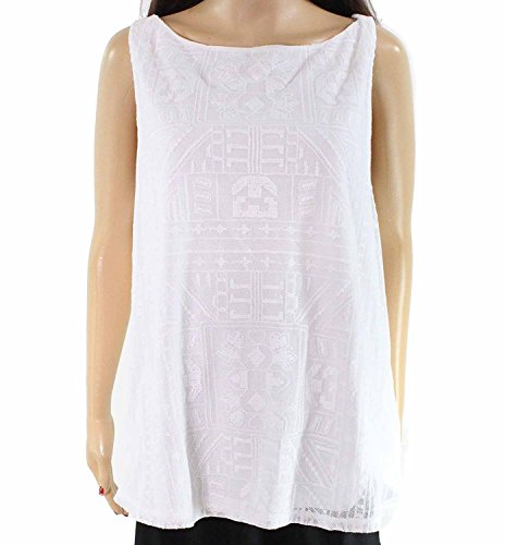Lauren Cotton Blouse (Lauren by Ralph Lauren Embroidered Women Tank Cami Top White XL)
