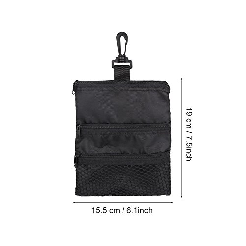 GOTOTOP Multi-Pocket Golf Bag Golf Ball Black Zipper Handbag Bag Useful Golf Ball Handbag Golf Accessories Bag(19 15.5cm / 7.5 6.1inch) by GOTOTOP (Image #3)