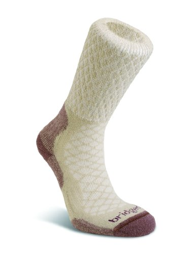 Bridgedale Women's Merino Fusion Trail Socks, Sand, Medium (Bridgedale Comfort Trail Sock)