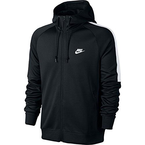 Nike Tribute Hooded Track Jacket Men's Hoodie Jacket Hoody Black/White, Sizes:S